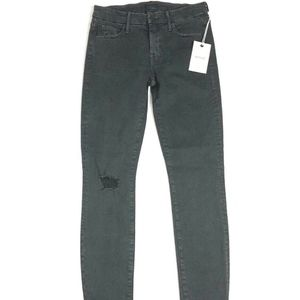 MOTHER Denim LOOKER Sexy Just Walked Town Faded Bl